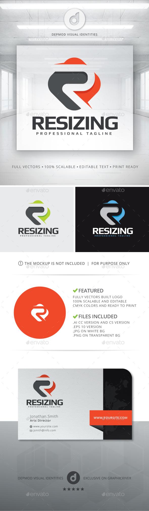 Resizing Logo