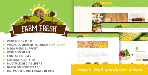 Farm Fresh - Organic Products WordPress Theme