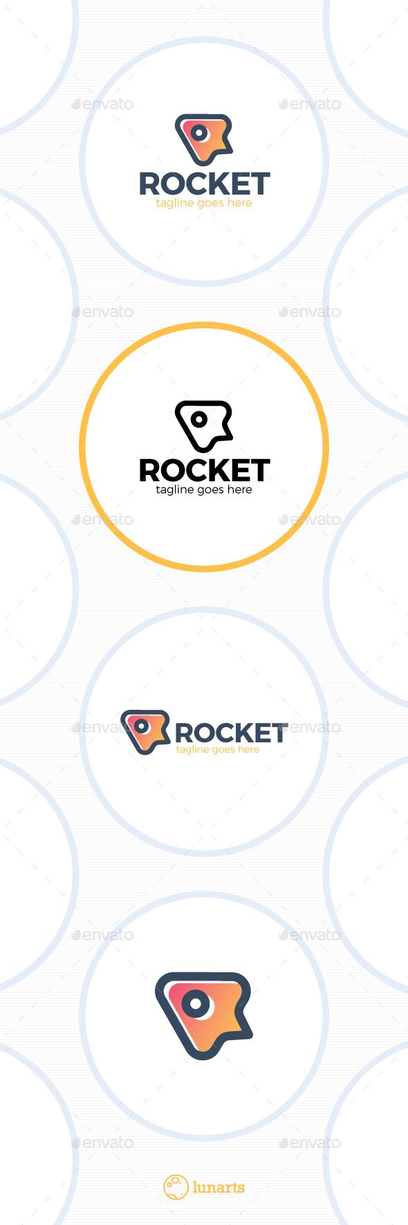 Simple Rocket Logo