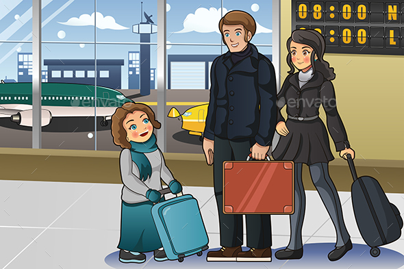 Family Going to Vacation