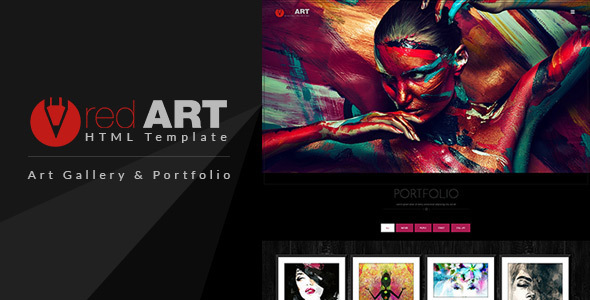 Red Art - Gallery & Photography HTML Template