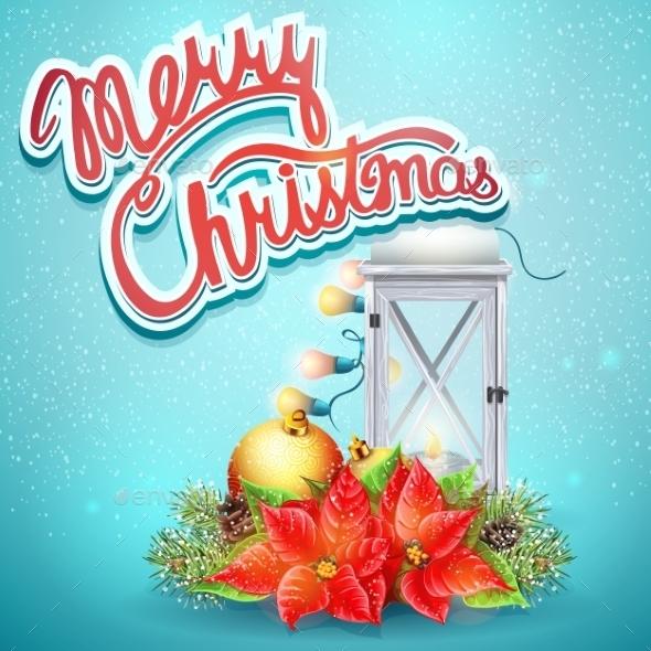 Christmas Illustration With Festive Elements