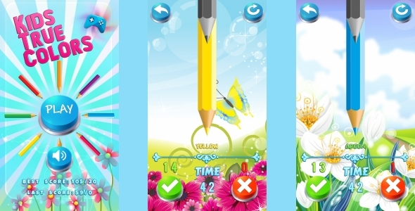 Kids True Color - HTML5 Mobile Game (Construct 3 | Construct 2 | Capx) Download