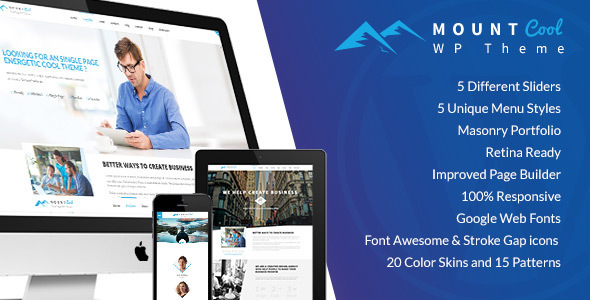 MountCool -  Portfolio Agency WordPress Theme