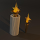 Two Olympic Flame 3D Model - 3DOcean Item for Sale