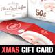 Christmas Gift Card Illustration Template - GraphicRiver Item for Sale