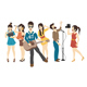 Set of Singer and Musicians - GraphicRiver Item for Sale
