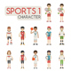 Set of Sport Characters - GraphicRiver Item for Sale