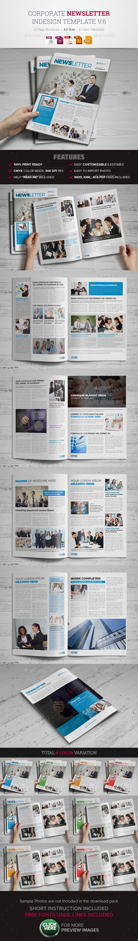 Indesign Newsletter Templates From Graphicriver