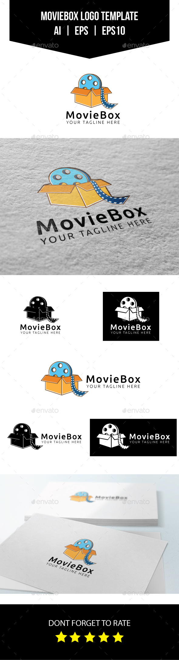 Movie Box Logo Template