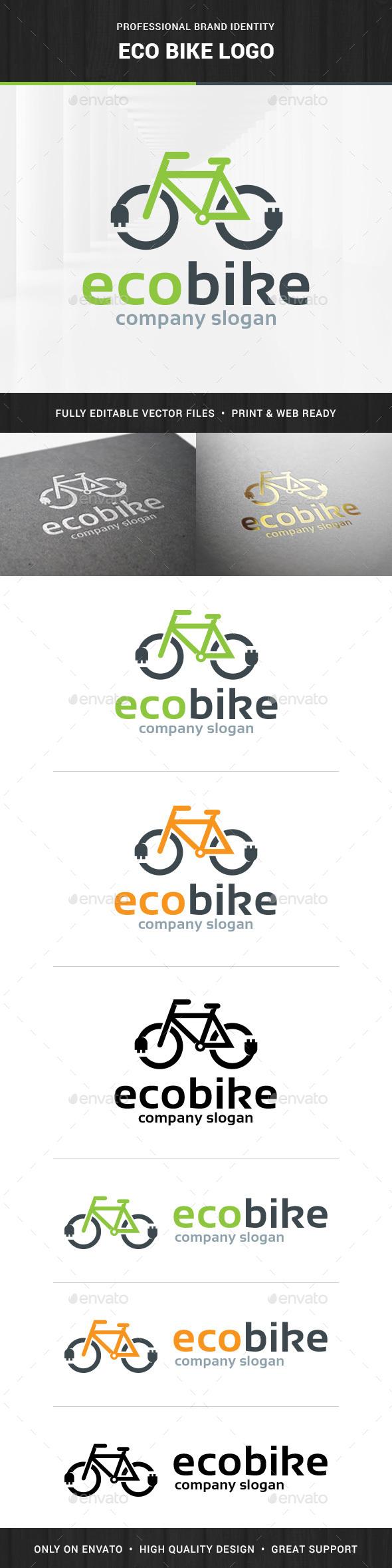 Eco Bike Logo Template