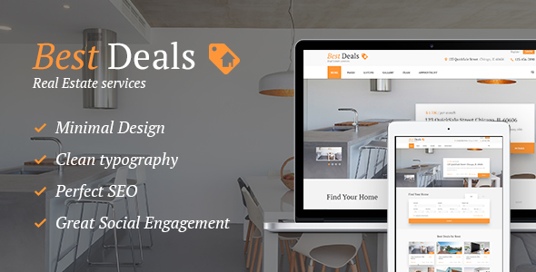 Best Deals - A Modern Property Sales & Rental WordPress Theme