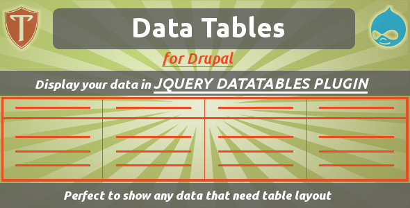 Data Tables for Drupal