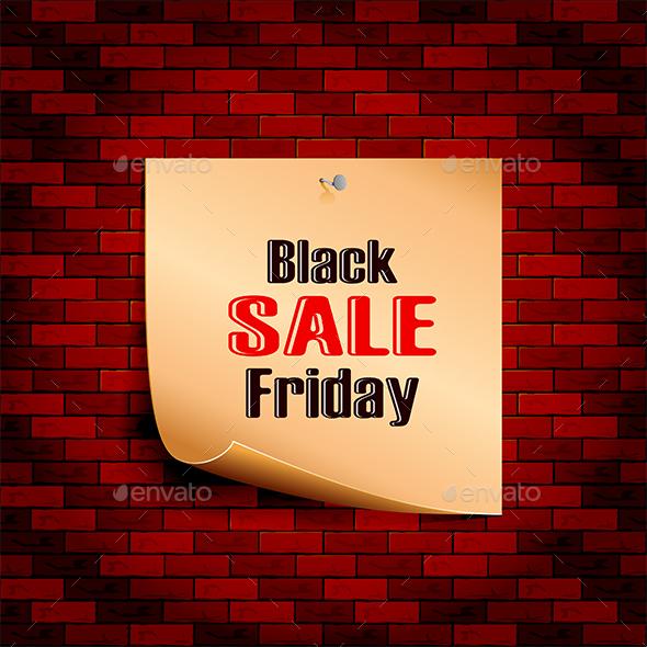 Black Friday Sale on Brick Wall