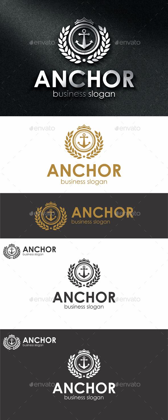 Anchor Logo Template