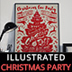 Illustrated Christmas Party Flyer Invitation - GraphicRiver Item for Sale