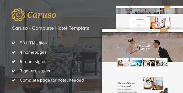 Caruso - Complete Hotel Booking Template