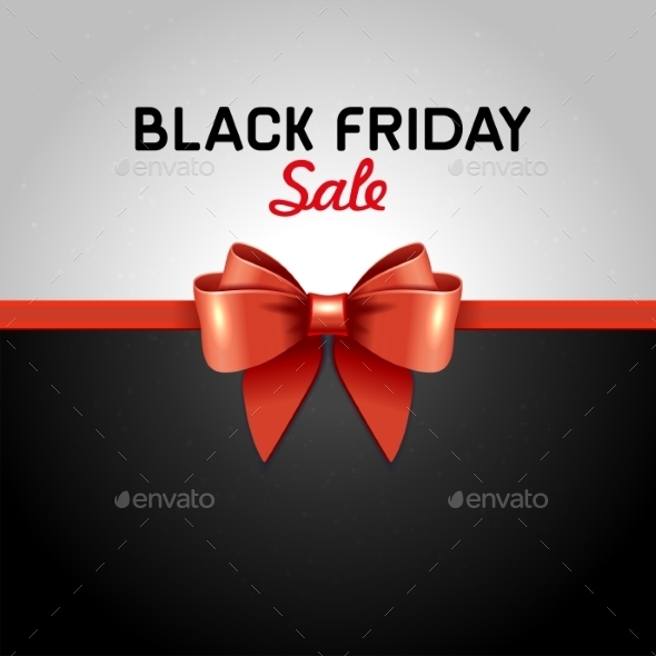 Black Friday Poster Sale With Ribbon And Bow Knot