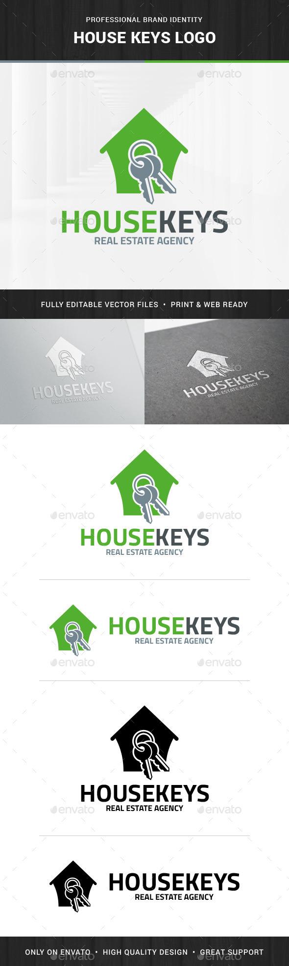 House Keys Logo Template