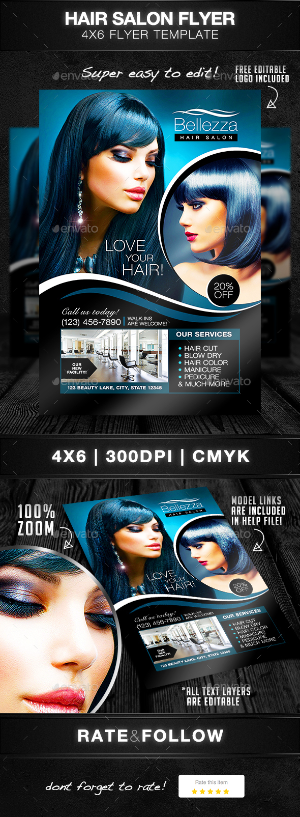 Hair Salon Graphics Designs Templates From Graphicriver