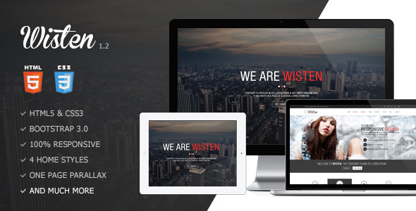 Wisten - One Page Parallax Theme