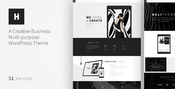 Heli – A Creative Multipurpose PSD Template
