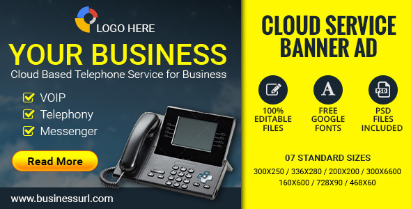 GWD Cloud Service | Business Banner - 7 Sizes Download