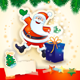 Christmas Background with Santa and Gift - GraphicRiver Item for Sale