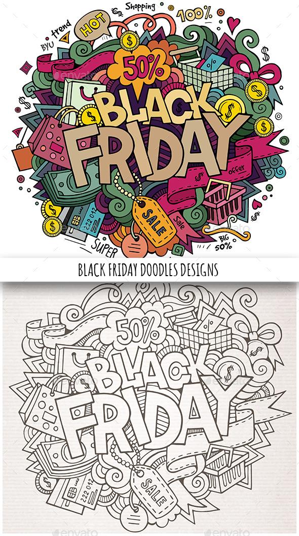 Black Friday Doodles Design