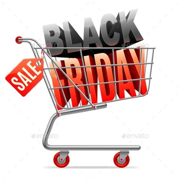 Black Friday Sale Shopping Cart