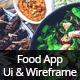 Food App UI & Wireframe Kit - GraphicRiver Item for Sale