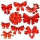 Set Of Red Gift Bow With Ribbons. - GraphicRiver Item for Sale