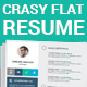 Crazy Flat Resume  - GraphicRiver Item for Sale