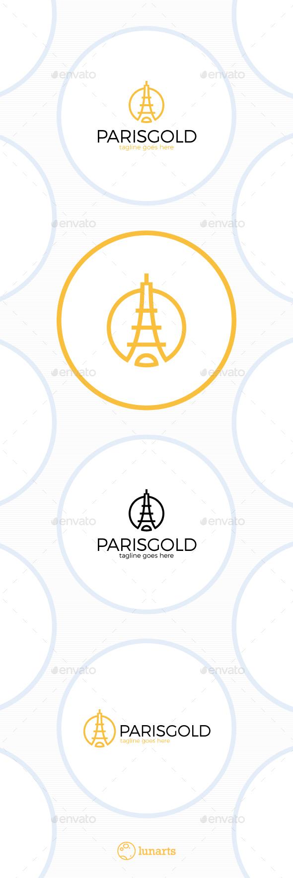 Paris Gold Logo - Luxury Tower