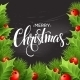 Christmas Decoration On Chalk Board. Vector - GraphicRiver Item for Sale