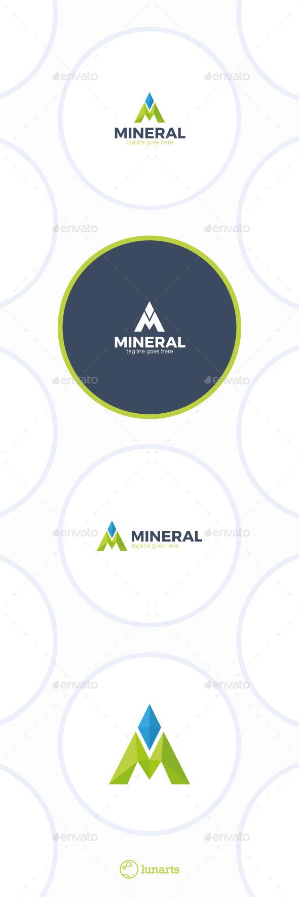 Mineral Logo - Letter M