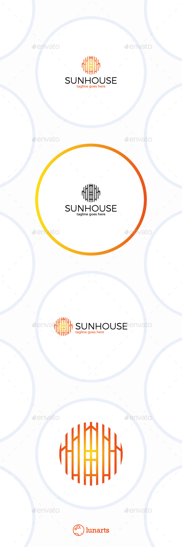 Sun House Logo - Line Circle