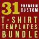 Premium T-Shirt Templates Bundle v2 - GraphicRiver Item for Sale