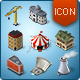 Isometric Map Icons - Buildings and Industry - GraphicRiver Item for Sale