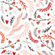 Christmas Holiday Floral Pattern Collection - GraphicRiver Item for Sale
