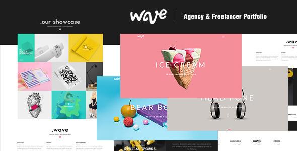 Wave | Agency & Freelancer Portfolio-Muse Template