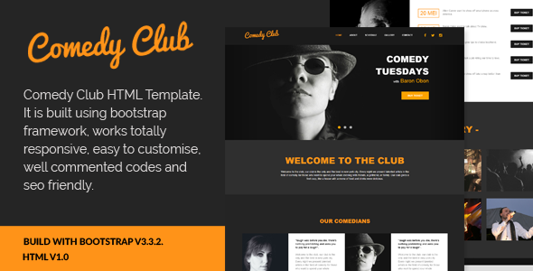 Comedy Club - Entertainment HTML Template