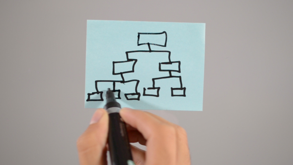 Business Clip Art, Hierarchy Sticky Note ( 2 in 1)