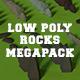 LowPoly Rocks MegaPack Bundle - 3DOcean Item for Sale