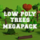 LowPoly Trees MegaPack Bundle - 3DOcean Item for Sale