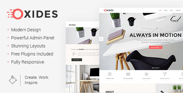 Oxides - Creative Studio Theme for Companies and Entrepreneurs