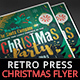 Retro Press Christmas Flyer II - GraphicRiver Item for Sale