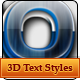 3D Glass Text Styles - GraphicRiver Item for Sale