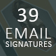 39 Email Signatures - GraphicRiver Item for Sale