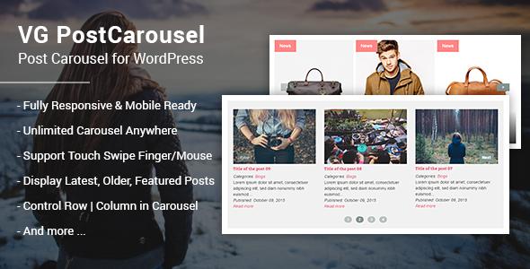 VG PostCarousel - Post Carousel for WordPress